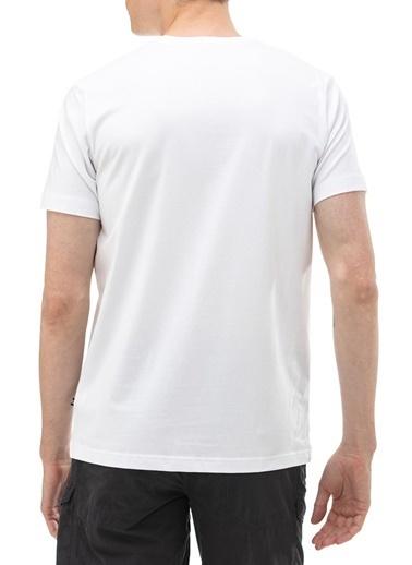 Nautica  Bisiklet Yaka Pamuklu T Shirt Erkek T Shırt V01000T 1Bw Beyaz